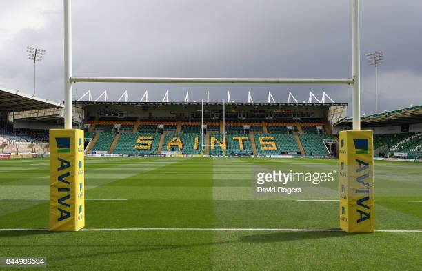A general view of Franklin's Gardens priot to the Aviva Premiership match between Northampton Saints and Leicester Tigers at Franklin's Gardens on...
