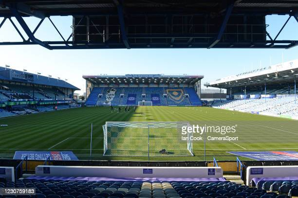 General view of Fratton Park home of Portsmouth FC during the Sky Bet League One match between Portsmouth and Hull City at Fratton Park on January...