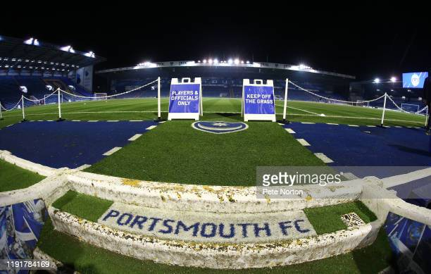A general view of Fratton Park prior to the Leasingcom Trophy match between Portsmouth and Northampton Town at Fratton Park on December 03 2019 in...