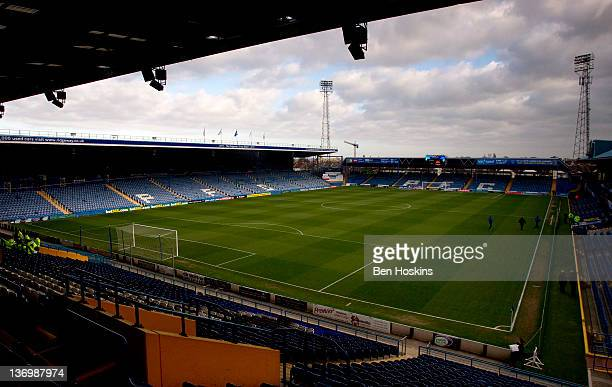 General view of Fratton Park prior to the npower Championship match between Portsmouth and West Ham United at Fratton Park on January 14, 2012 in...