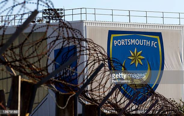 A general view of Fratton Park prior to the npower Championship match between Portsmouth and Leeds United at Fratton Park on February 25 2012 in...