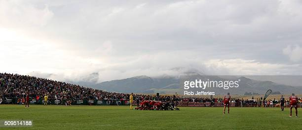 A general view of Fred Booth Park during the Super Rugby trial match between the Highlanders and the Crusaders at Fred Booth Park on February 11 2016...