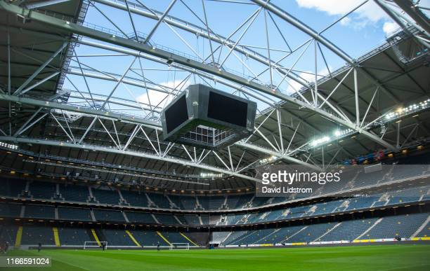 General view of Friends Arena during the training session ahead of the UEFA Euro 2020 qualifier match between Sweden and Norway on September 7, 2019...