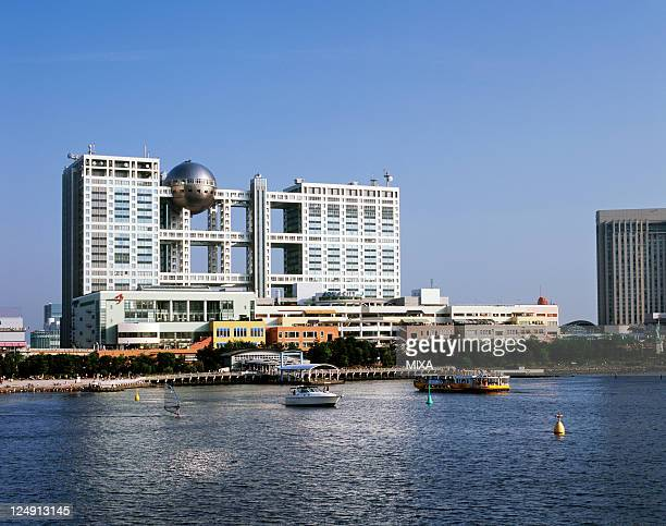 A general view of Fuji Television Building and Aqua City on March 1 2009 in Tokyo Japan