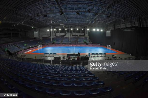 General view of futsal venue at TecnÛpolis Park ahead of the Buenos Aires 2018 Youth Olympic Games on October 5 2018 in Buenos Aires Argentina