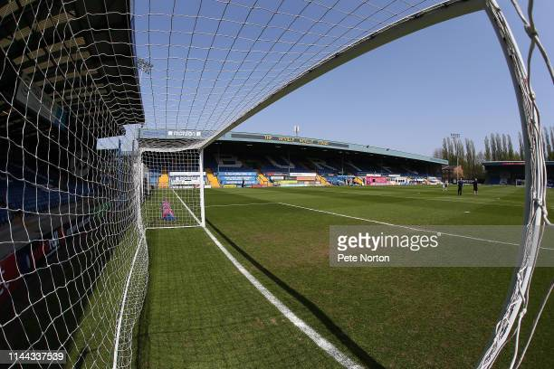 A general view of g Gigg Lane prior to the Sky Bet League Two match between Bury and Northampton Town at Gigg Lane on April 22 2019 in Bury United...