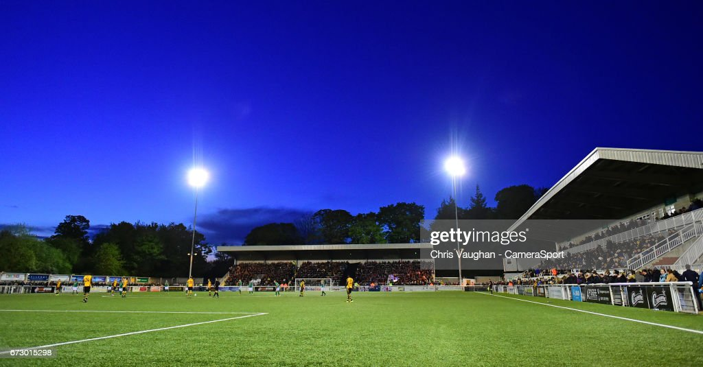 A general view of Gallagher Stadium, home of Maidstone United during the Vanarama National League match between Maidstone United and Lincoln City at Gallagher Stadium on April 25, 2017 in Maidstone, England.