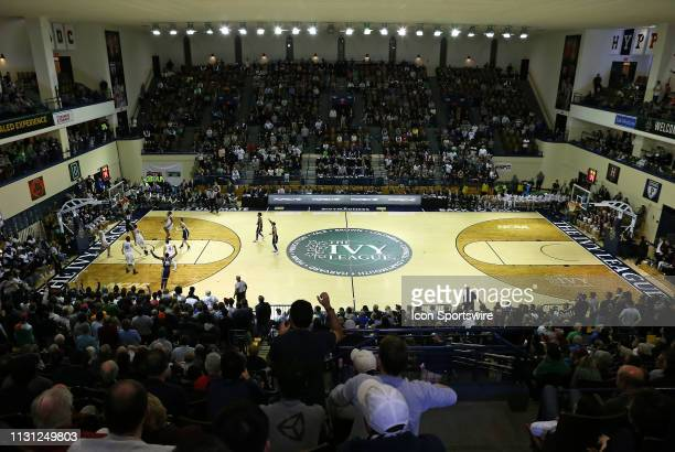 A general view of game action during a college basketball game between Yale Bulldogs and Harvard Crimson on March 17 at John J Lee Amphitheater in...