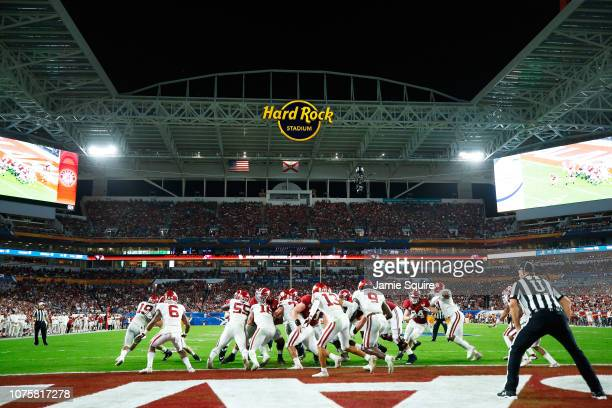 A general view of game action during the College Football Playoff Semifinal at the Capital One Orange Bowl at Hard Rock Stadium on December 29 2018...