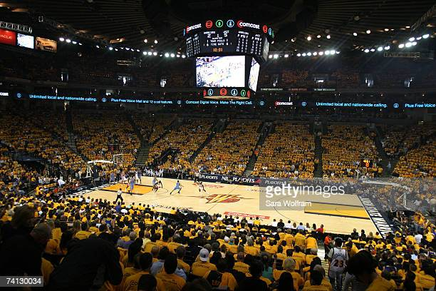 General view of Game Three of the Western Conference Semifinals between the Golden State Warriors and the Utah Jazz during the 2007 NBA Playoffs on...