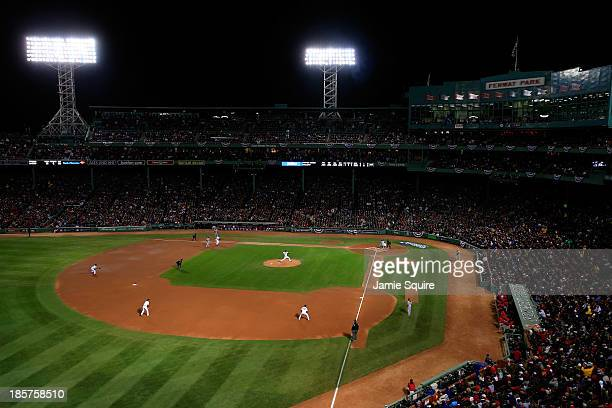 A general view of Game Two of the 2013 World Series between the Boston Red Sox and the St Louis Cardinals at Fenway Park on October 24 2013 in Boston...