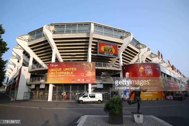General view of Gamla Ullevi stadium on July 8, 2013 in Gothenburg, Sweden. The UEFA Women's Euro 2013 will start on July 10, 2013 with the opening...