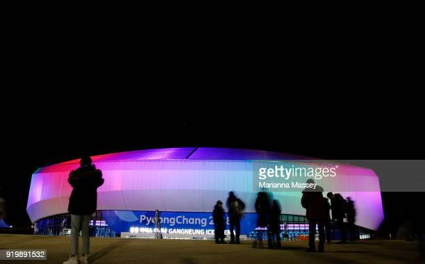 A general view of Gangneung Ice Arena in Olympic Park on February 18 2018 in Pyeongchanggun South Korea
