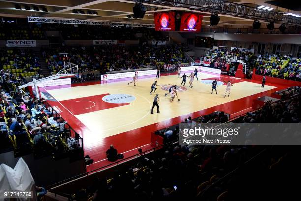 General view of Gaston Medecin hall during the Pro A match between Monaco and Gravelines Dunkerque on February 11 2018 in Monaco Monaco