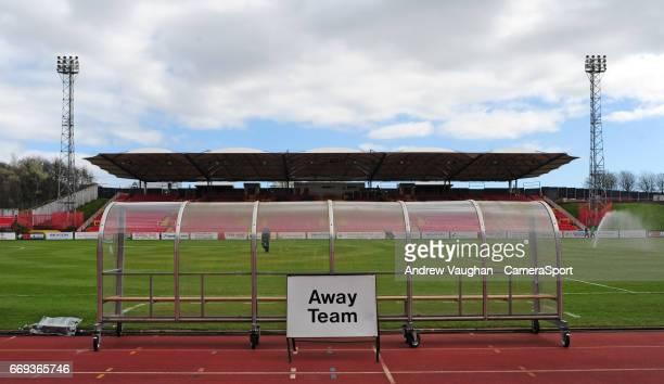 A general view of Gateshead International Stadium home of Gateshead FC prior to the Vanarama National League match between Gateshead and Lincoln City...