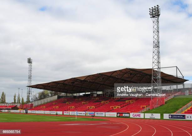 A general view of Gateshead International Stadium home of Gateshead FC prior to the Vanarama National League match between Gateshead and Lincoln City...