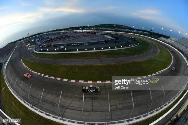 A general view of Gateway Motorsports Park during the NASCAR Camping World Trucks Series Drivin' for Linemen 200 on June 17 2017 in Madison Illinois