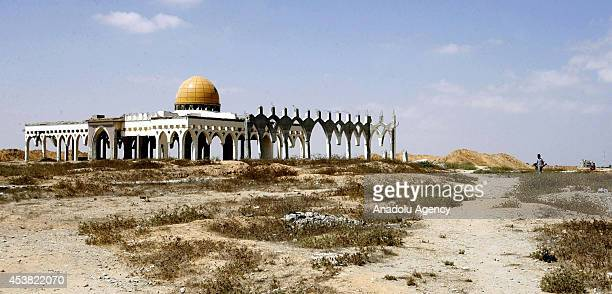 General view of Gaza International Airport, also known as Yasser Arafat International Airport started to be built in 1998 and having been out of...