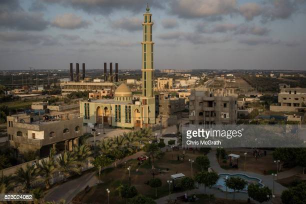 General view of Gaza's only power plant in the Nusseirat district on July 19, 2017 in Gaza City, Gaza. For the past ten years Gaza residents have...