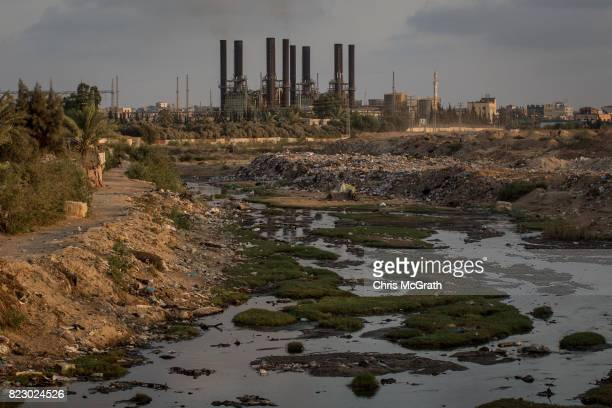 A general view of Gaza's only power plant in the Nusseirat district on July 19 2017 in Gaza City Gaza For the past ten years Gaza residents have...