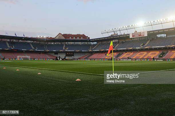 A general view of Generali Arena before the UEFA Europa League Quarter Final second leg match between Sparta Prague and Villareal CF on April 14 2016...