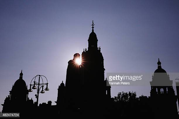 A general view of George Square is seen ahead of the Commonwealth Games on July 21 2014 in Glasgow Scotland