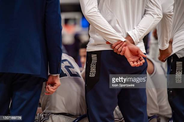 General view of Georgetown Hoyas apparel during the Big East tournament first round game between the St. Johns Red Storm and Georgetown Hoyas on...