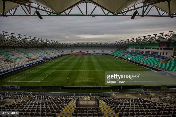 General view of German Becker Stadium in Temuco host city of 2015 Copa America Chile on June 19 2015 in Temuco Chile
