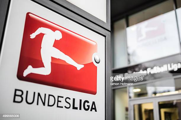 A general view of German Football League headquarters prior to a press conference at the MarriottHotel on December 2 2015 in Frankfurt am Main Germany