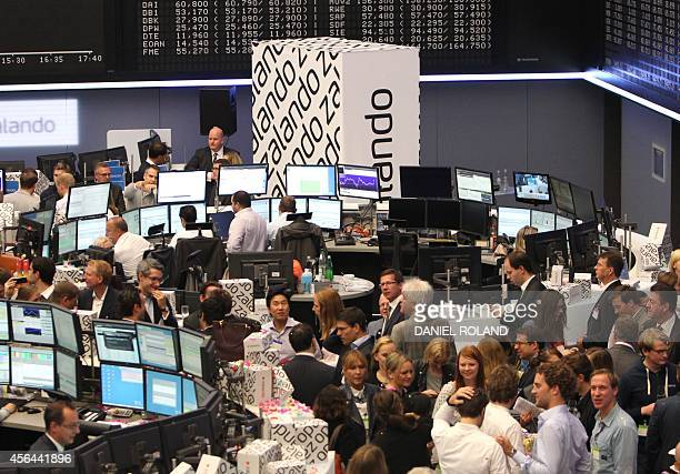 A general view of German Stock Exchange during the IPO of Europe's biggest online fashion retailer Zalando on October 1 2014 in Frankfurt am Main...