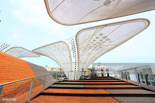 General view of Germany pavilion during the Milano EXPO 2015 at Fiera Milano Rho on May 2 2015 in Milan Italy