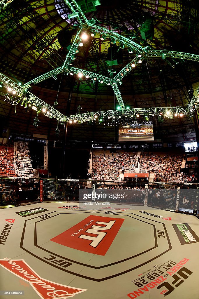 A general view of Gigantinho Gymnasium prior to the UFC Fight Night Antonio Bigfoot v Frank Mir on February 22, 2015 in Porto Alegre, Brazil.