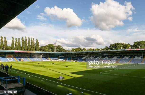 A general view of Gigg Lane home of Bury FC during the PreSeason Friendly match between Bury and Blackburn Rovers at Gigg Lane on July 24 2019 in...
