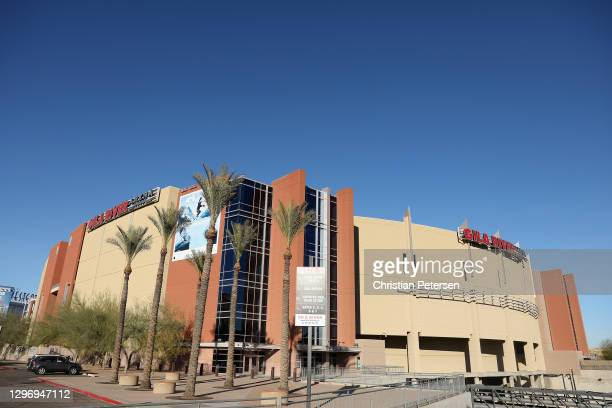 General view of Gila River Arena, home to the Arizona Coyotes on January 17, 2021 in Glendale, Arizona.