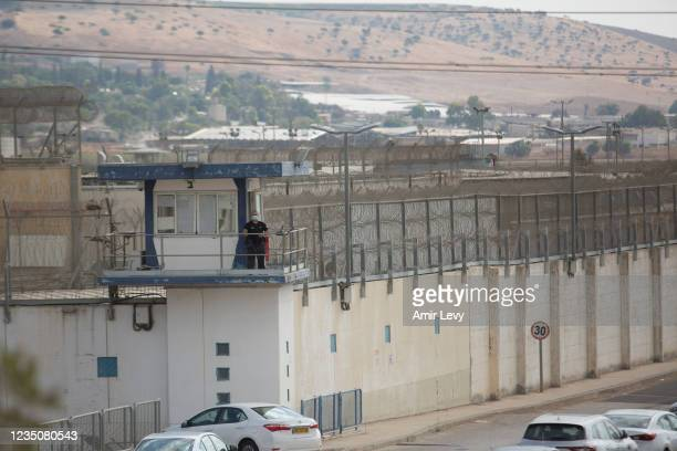 General view of Gilboa prison where six Palestinian prisoners managed to escape from the prison overnight on September 6, 2021 near Kibbutz Beit...