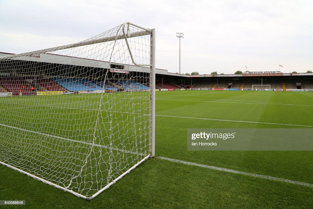 A general view of Glanford Park during Checkertrade Trophy group stage match at Glanford Park on August 29, 2017 in Scunthorpe, England.