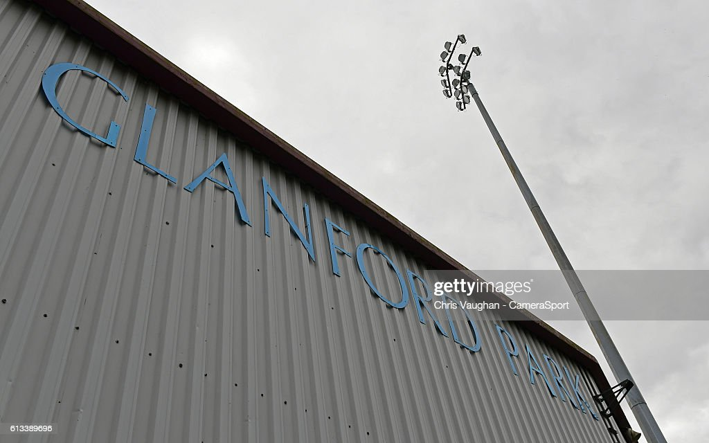 A general view of Glanford Park, home of Scunthorpe United before the Sky Bet League One match between Scunthorpe United and Northampton Town at Glanford Park on October 8, 2016 in Scunthorpe, England.
