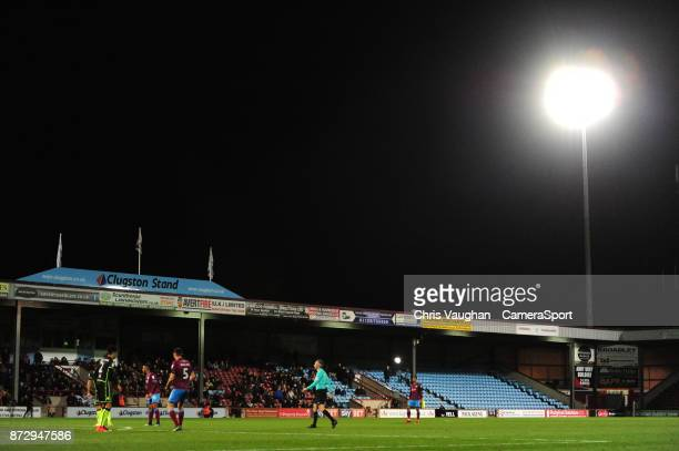 A general view of Glanford Park home of Scunthorpe United FC during the Sky Bet League One match between Scunthorpe United and Bristol Rovers at...