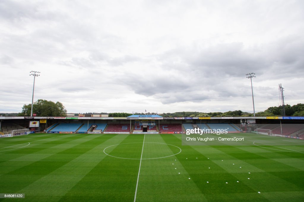 A general view of Glanford Park, home of Scunthorpe United FC prior to the Sky Bet League One match between Scunthorpe United and Blackburn Rovers at Glanford Park on September 12, 2017 in Scunthorpe, England.