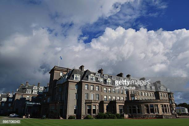 A general view of Gleneagles Hotel on August 26 2016 in Aucterarder Scotland The annual auction of Fine Modern and Vintage sporting guns and rifles...