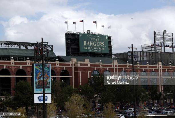 A general view of Globe Life Park in Arlington on September 29 2019 in Arlington Texas