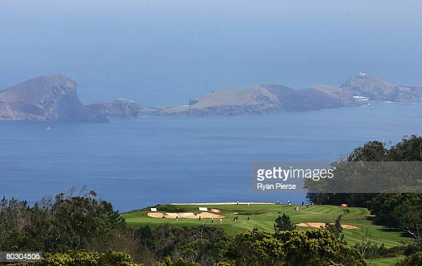 A general view of golfers in action during previews for the Madeira Islands Open BPI 2008 at Clube De Golf Santo Da Serra on March 19 2008 in Madeira...