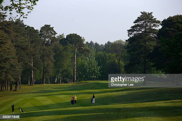 General view of golfers in action during Round 1 of the Senior Club Pro's Championship at Foxhills Golf Club on May 12 2016 in Ottershaw England