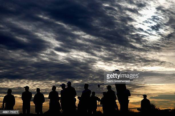 General view of golfers on the 8th hole during the second round of the Waste Management Phoenix Open at TPC Scottsdale on January 31, 2014 in...
