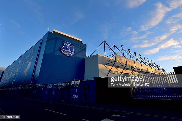 A general view of Goodison Park before the Barclays Premier League match between Everton and Manchester United at Goodison Park on December 4 2016 in...