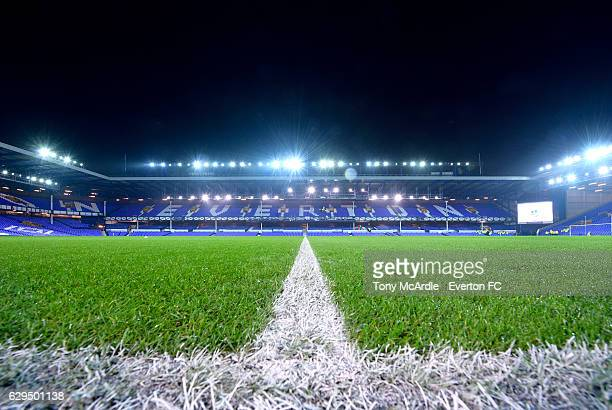 A general view of Goodison Park before the Barclays Premier League match between Everton and Arsenal at Goodison Park on December 13 2016 in...