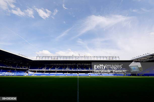 A general view of Goodison Park before the EFL Cup match between Everton and Yeovil Town at Goodison Park on August 23 2016 in Liverpool England