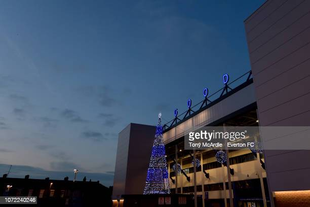 A general view of Goodison Park before the Premier League International Cup match between Everton U23 and Bayern Munich II at Goodison Park on...