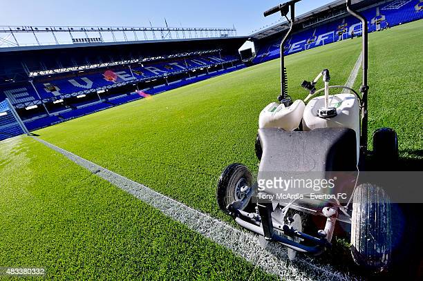 General view of Goodison Park before the Premier League match between Everton and Watford at Goodison Park on August 08 2015 in Liverpool England