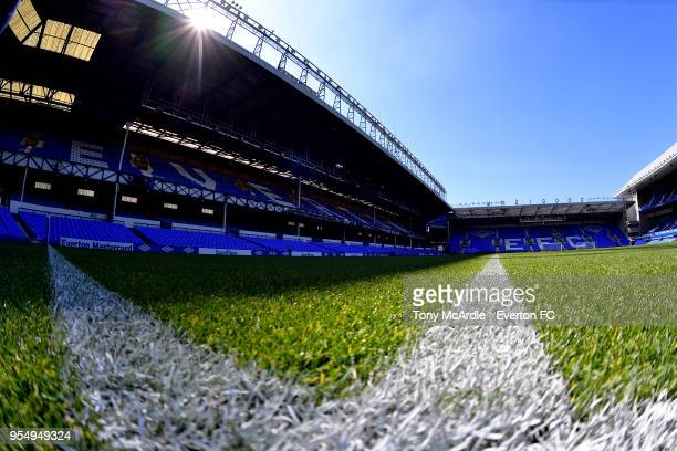 A general view of Goodison Park before the Premier League match between Everton and Southampton at Goodison Park on May 5 2018 in Liverpool England